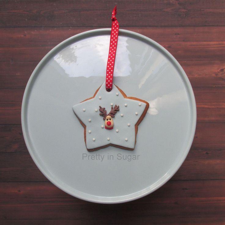 Christmas tree cookie ornament