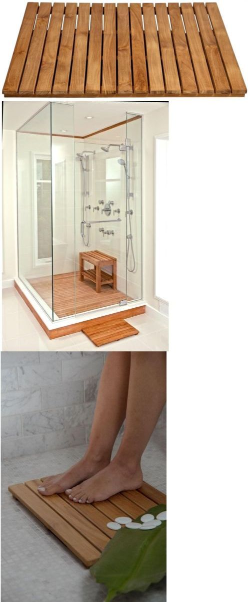 Non-Slip Appliques and Mats 66722: 30 In. Square Teak Bathroom Shower Mat Natural Waterproof Wood Bath Platform New -> BUY IT NOW ONLY: $331.34 on eBay!
