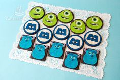 Galletas decoradas con diseño de Monsters Inc. / Monsters Inc. Cookies.