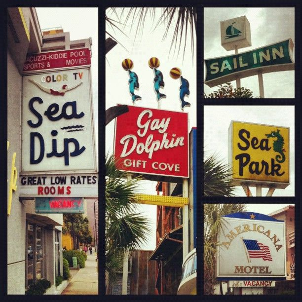 "Vintage Signs That You Will Still See Around Myrtle Beach - ""The Signs of Myrtle Beach by ewilfong, via Flickr"""