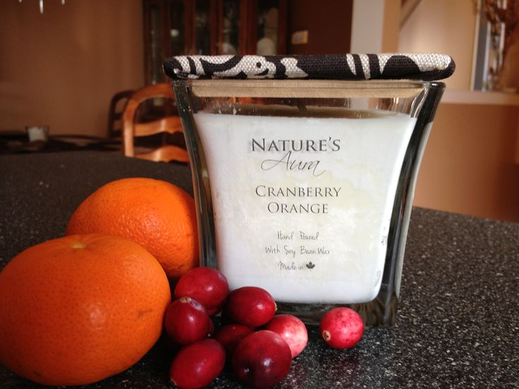 The tangy scent of cranberries perfectly blended with the scent of oranges. The Cranberry Orange soy candle is sure to make your mouth water!