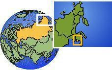 Jewish Autonomous Oblast', Russia as a marked location on the globe