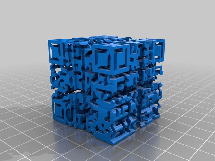 Godel Escher Bach QR Code shadow cube by SashimiTabernacleChoir - Thingiverse  The shadow of this cube in different directions gives QR codes pointing to the Wikipedia articles for Kurt Godel, M.C. Escher, and J.S. Bach respectively.