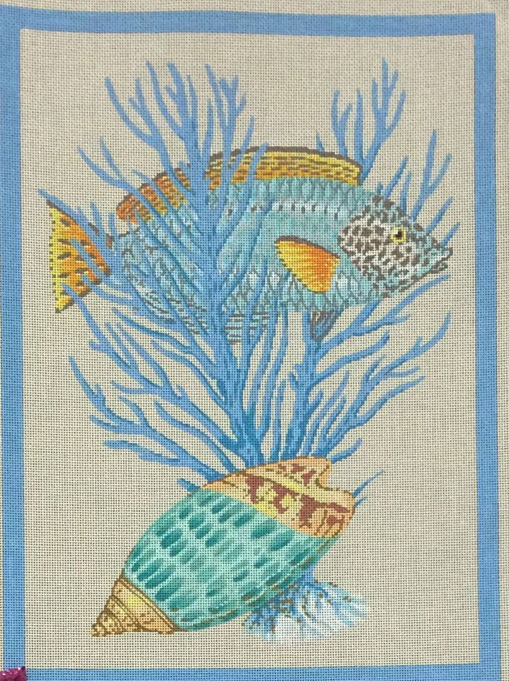 58 Best Images About Needlepoint Sea Shells On Pinterest