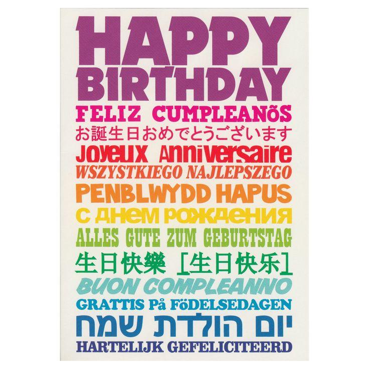Happy Birthday, Feliz Cumpleanos, Joyeux Anniversaire Greeting ...