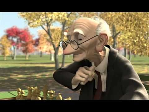 walt disney cortos de pixar ajedrez pixar, animacion 3d, dibujos animados)