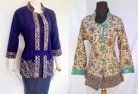 contoh model baju kerja batik