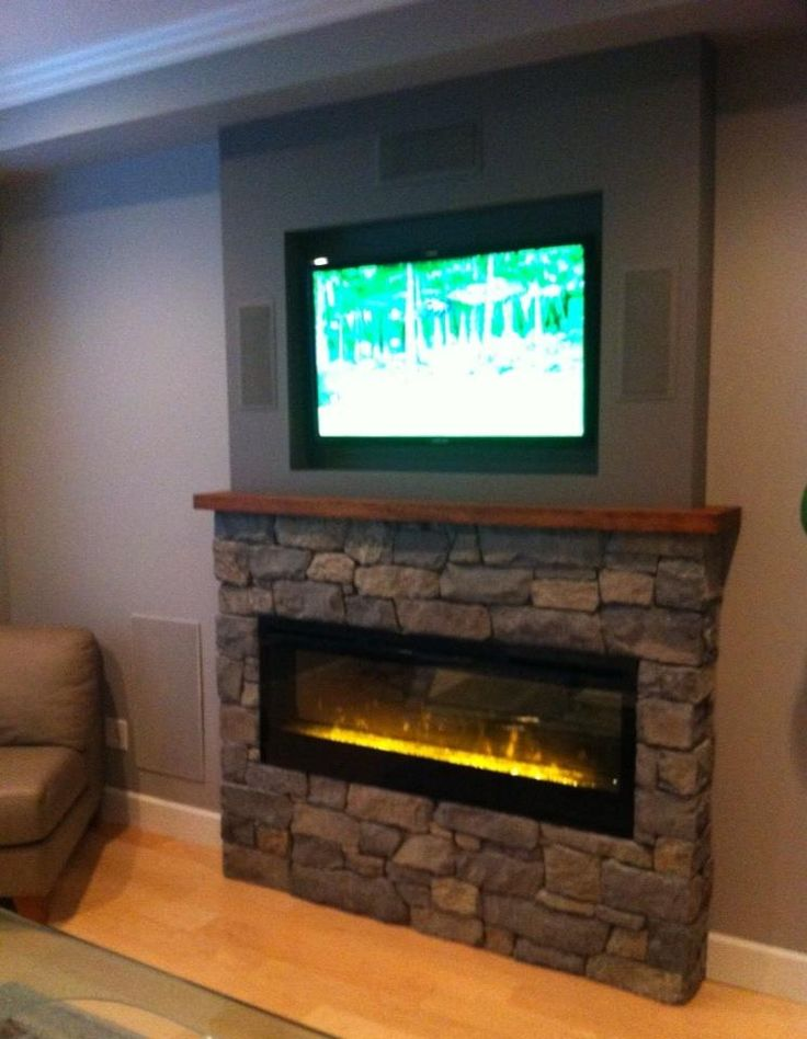 75 Best For The Home Tv Fireplace Combo Images On