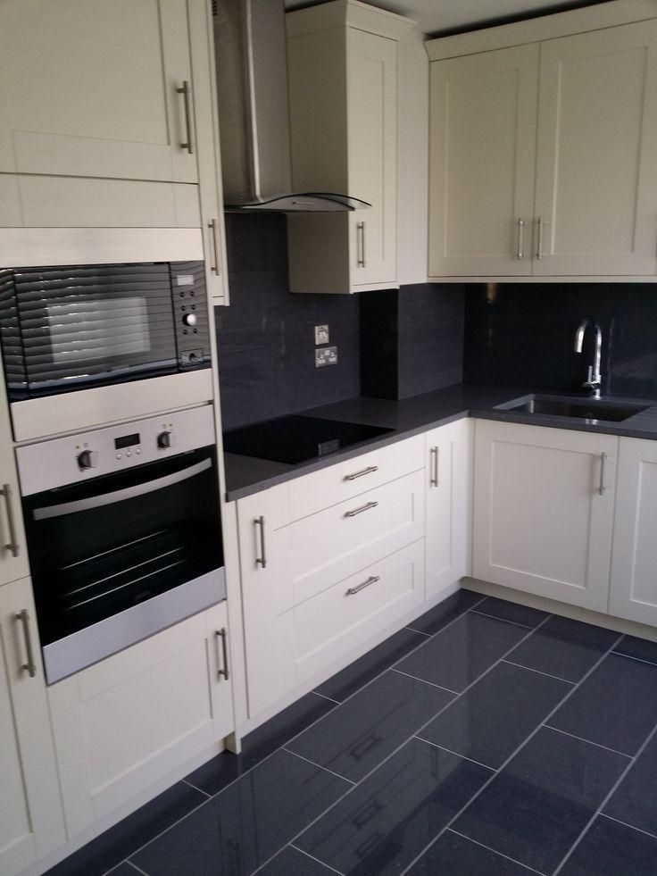 Cream and grey kitchen scheme