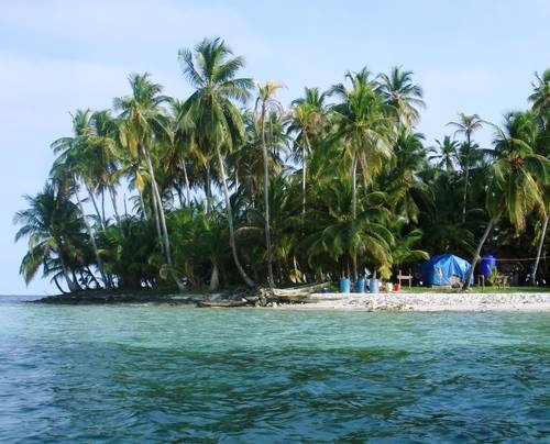 Isla Pelicano is part of the San Blas Islands in Panama. Home of the Kuna Indians