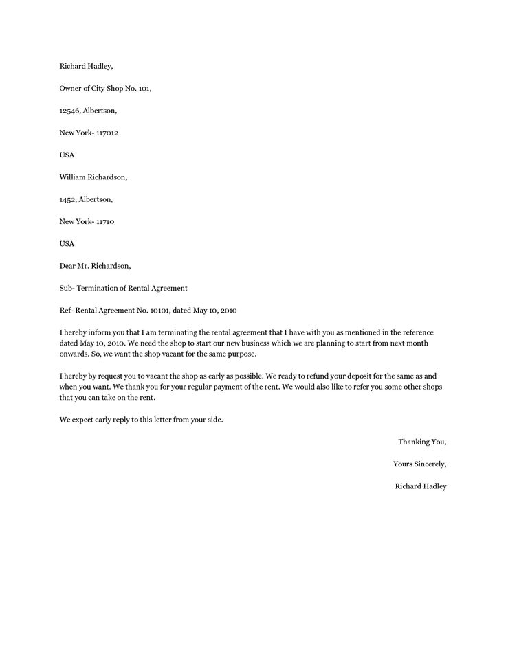 sample apartment lease agreement pictures pin pinterest - lease termination letter format