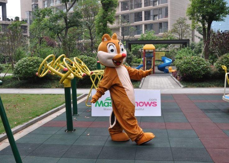 Costume de Mascotte d'écureuil brun
