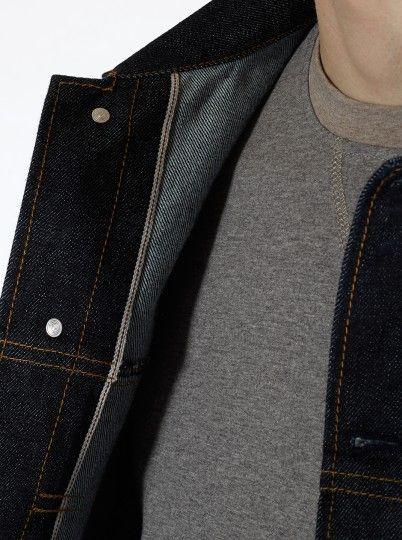 Universal Works Workshop Denim Indigo Trucker Jacket in Selvedge Denim | Universal Works