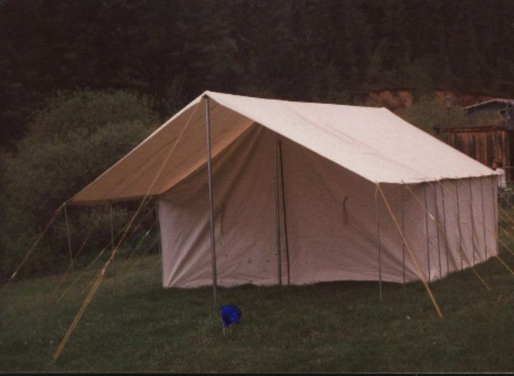 25 best ideas about canvas tent on pinterest wall tent for Homemade wall tent frame