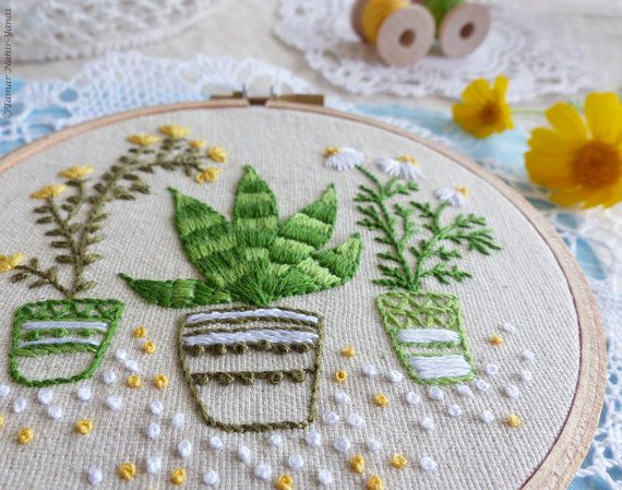 Embroidery art Embroidery designs Craft kit by TamarNahirYanai
