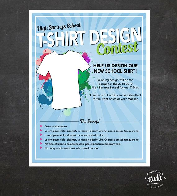 Pin By Inspiration Studio On Kennedy In 2021 Contest Design Flyer School Tshirt Designs