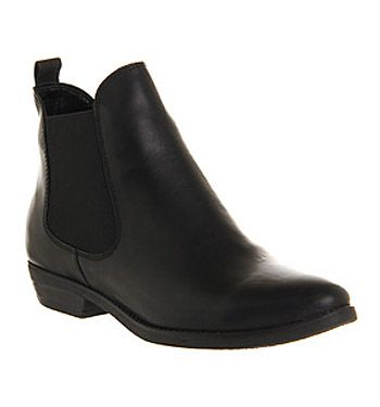 Office Dallas 2 Black Leather - Ankle Boots