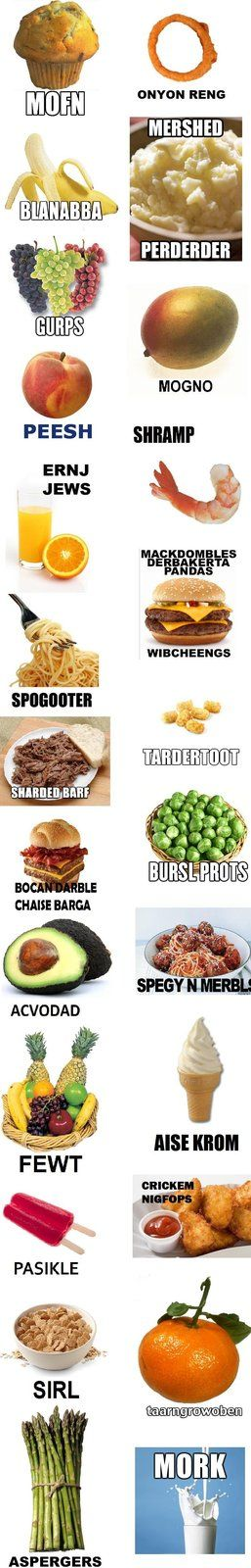 Pronounce Food Names While Eating Them