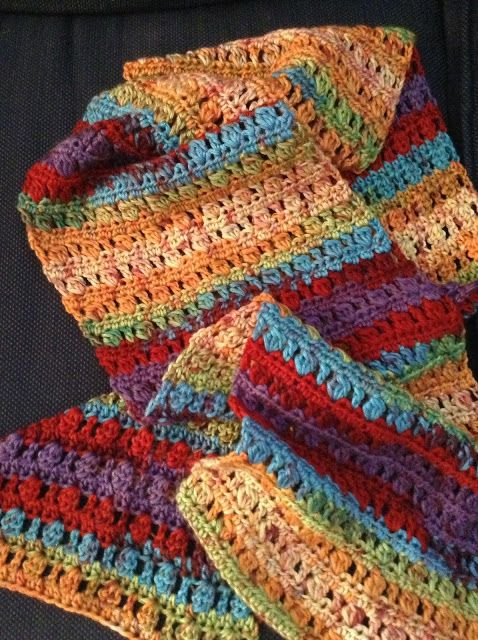 The Shtick I Do!: Cluster Stitch Scarf with Patter…