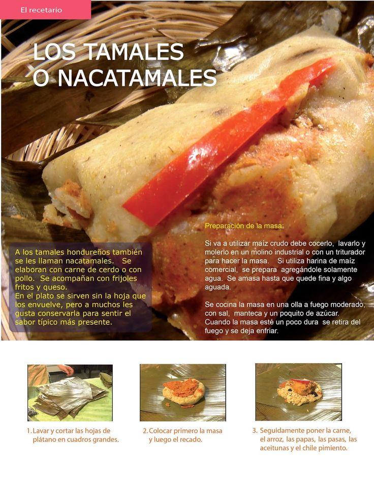 Receta de nacatamales o tamales hondureños