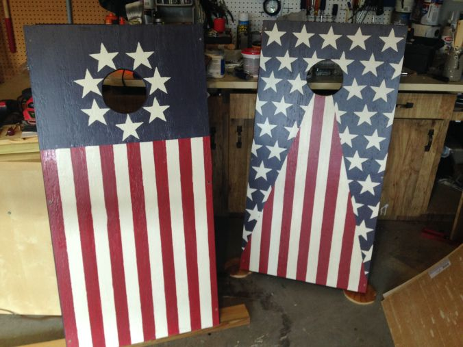 diy cornhole boards merica - Cornhole Design Ideas