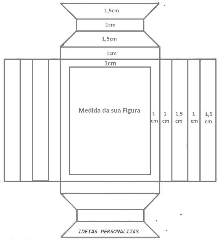 Molde Quadrinho - Assista o tutorial: https://www.youtube.com/watch?v=d9EUOkCt1aU