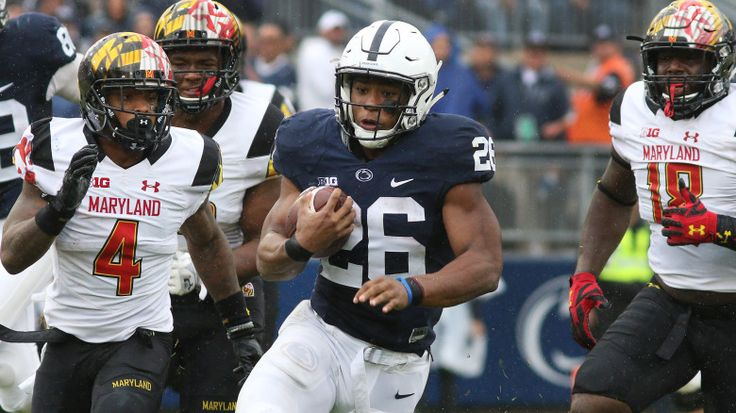 Saquon Barkley posted a career-high 202 yards and a touchdown on a career-high 31 carries to lead Penn State over Maryland 38 - 14!