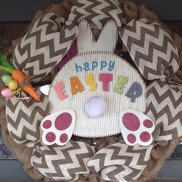 Easter Wreath, Chevron Wreath, Burlap Wreath, Spring Wreath by SewSimple4you on Etsy https://www.etsy.com/listing/222650294/easter-wreath-chevron-wreath-burlap