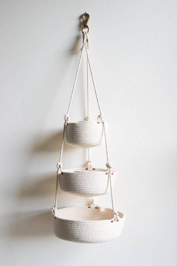 The Northern Market Multi Tier Hanging Basket On Hanging Baskets Crochet Storage Baskets Produce Baskets