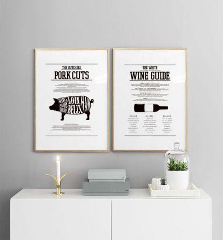 Vernieuw keuken met modieuze posters. www.desenio.nl