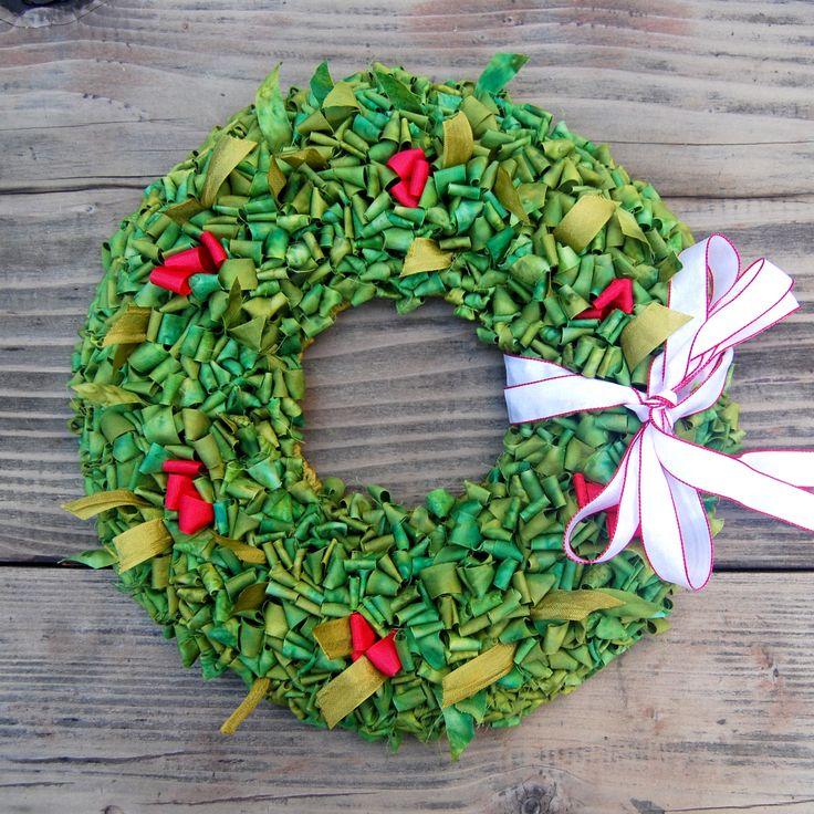 Locker Hooked Holiday Wreath