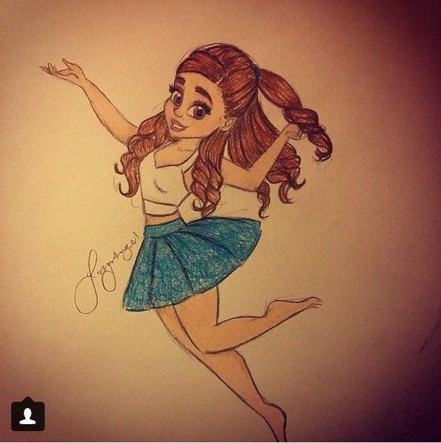 Ariana grande drawing so cute