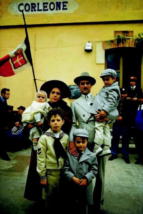 The Godfather Part II: Connie, Carmella, Sonny, Fredo, Vito and Michael Corleone.