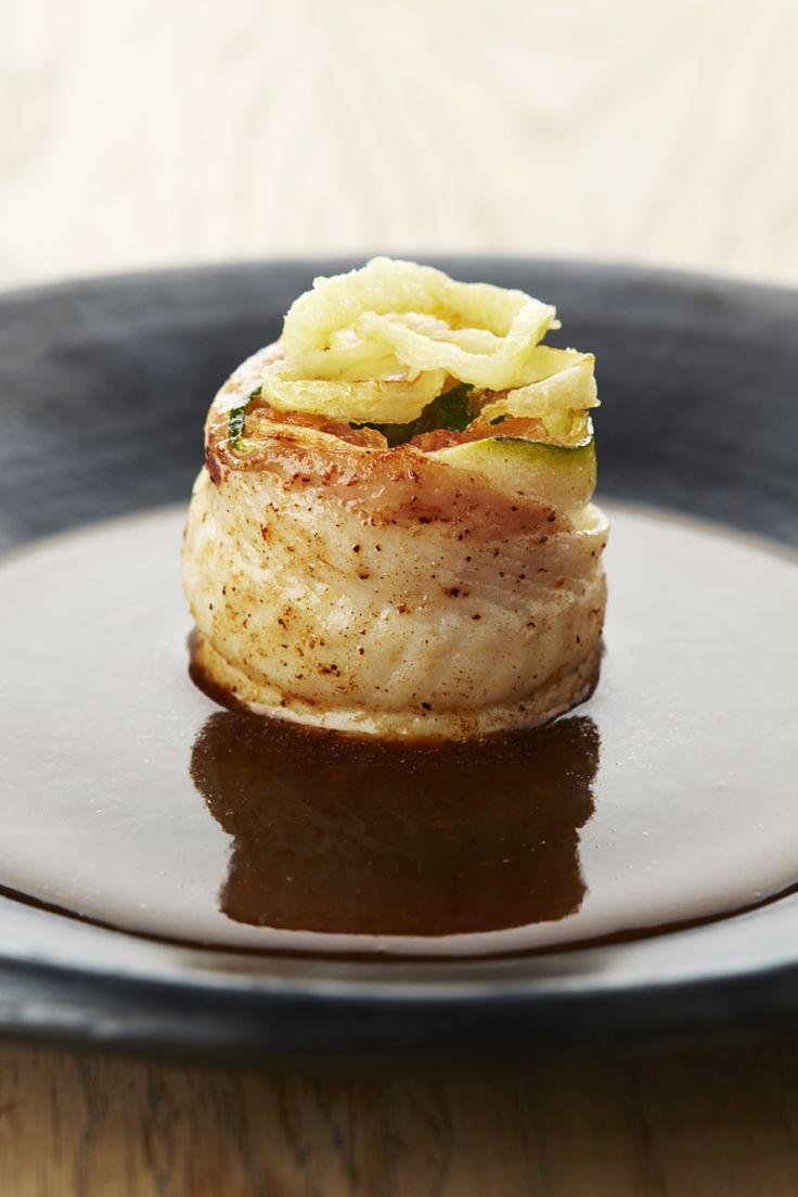 Recepten - Praline van tongfilet met Vlaamse gedroogde hesp