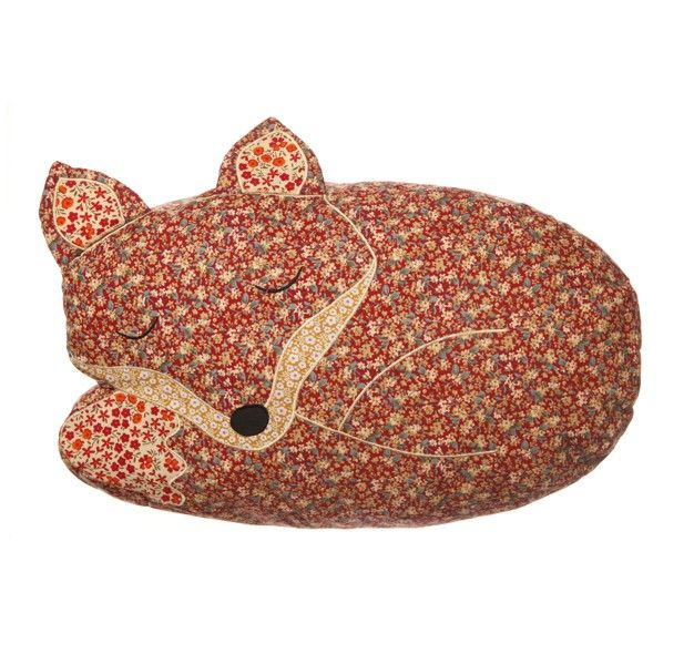 Sleeping Fox Cushion with Inner