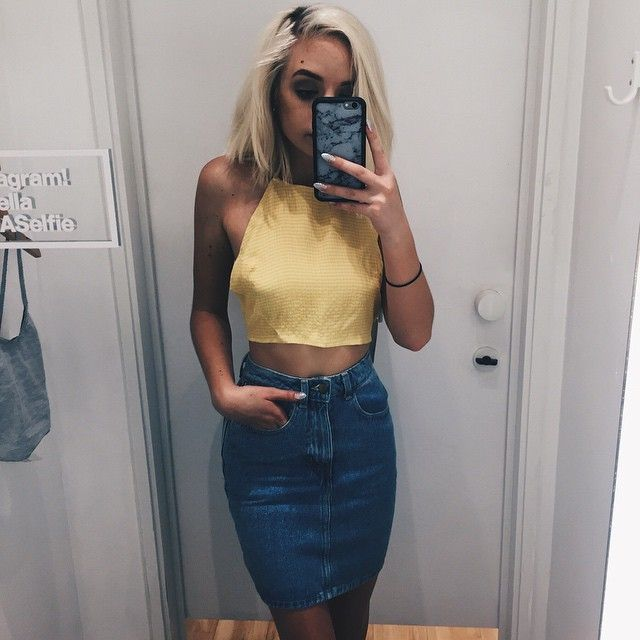 Waist denim jeans
