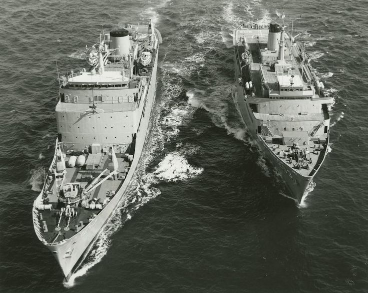 Destroyer tender HMAS Stalwart in company with HMAS Jervis Bay.