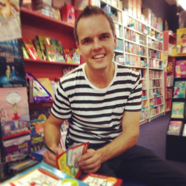 It's always lovely to see one of our popular children's authors @tristanbancks especially when he leaves behind bookmarks, posters and lots of signed copies of his books
