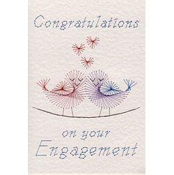 Stitching Cards Engagement Birds