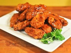 Modifying to baked, but one of the wings I'm brining to the #SuperBowl party: Thai Sweet and Spicy Wings