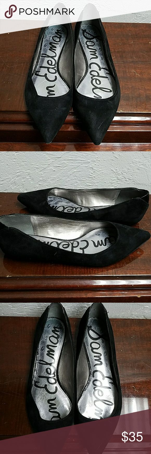 Sam Edelman suede Flats size 7.5 Suede pointy-toed Flats, normal wear and tear. Sam Edelman Shoes Flats & Loafers
