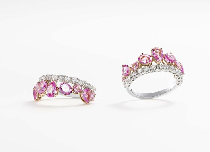 william and son pink sapphires ring
