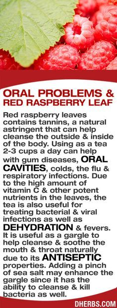 Red raspberry leaves contains tannins, a natural astringent that can help cleanse the outside & inside of the body. Using as a tea 2-3 cups a day can help with gum diseases, oral cavities, colds, the flu & respiratory infections. Due to the high amount of vitamin C & other potent nutrients in the leaves, it is also useful for treating bacterial & viral infections, dehydration & fevers. As a gargle, it helps soothe the mouth & throat naturally due to its antiseptic properties. #dherbs…