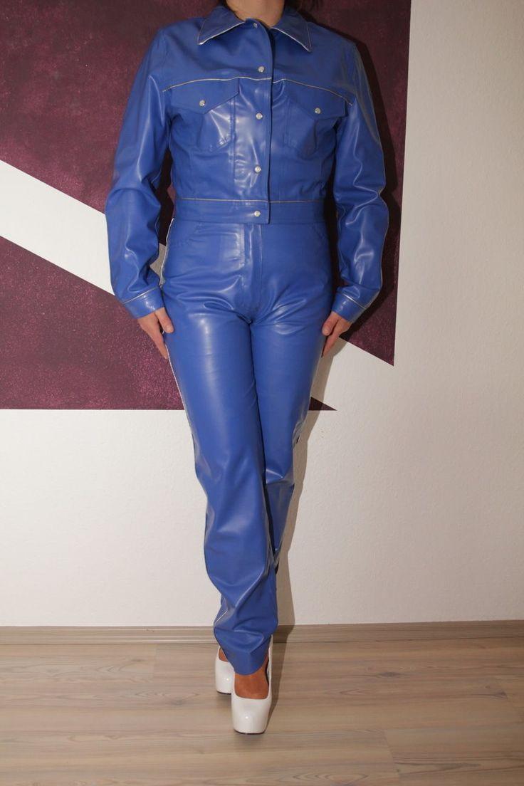 Gummianzug Gummi Jacke Hose Gumpla Regen Anzug Biker M getragen Casablanca PVC | eBay