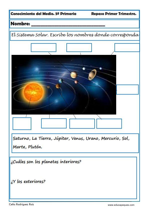 Indice de contenido1 Ejercicios de Conocimiento del Medio para Quinto de Primaria1.1 Fichas de Conocimiento del Medio para Quinto de