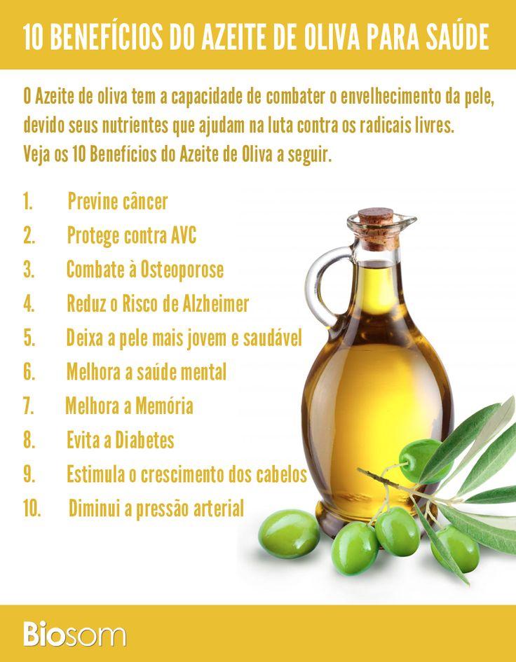 Clique na imagem ao lado e veja os 10 benefícios de azeite de oliva para a saúde. #alimentação #alimentaçãosaudável #saúde