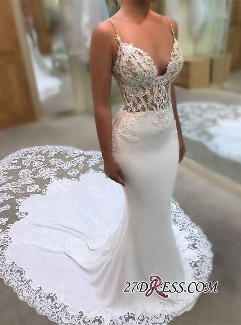 Glamorous Spaghetti-Straps Wedding Dress  c19ce7a0221f