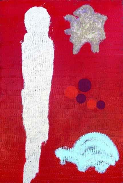 Ömer Uluç, Figurative Abstraction, 2009, acrylic on canvas, 200 x 135cm.