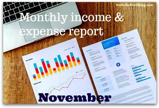 Monthly income expense report