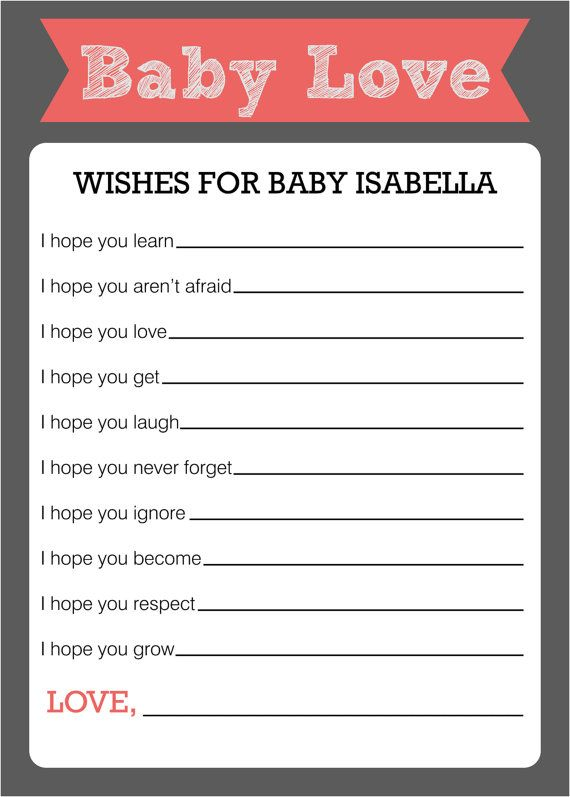 Wishes for Baby  Baby Shower Game by ParraclanDesigns on Etsy, $7.50